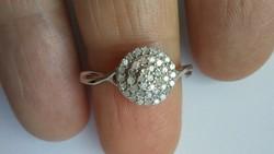 Gyémánt 925 ezüst gyűrű 54