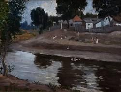 Szlányi Lajos (1869-1949): Szolnoki Tabán-i házak