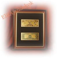 "24K arany ""silver dollar"" - bankjegyveret"