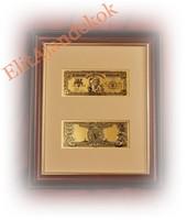 "24K arany ""5 silver dollar"" - bankjegyveret"