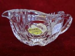 Ólomkristály mézkiöntő nem használták gyári címkével német eredeti mag. 5 cm átm 8.5 cm hibátlan