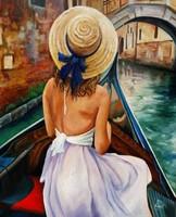 Egy gyögyőrű romantikus festnény olajfestmény szép keretben ingyenes házhoz szállítással