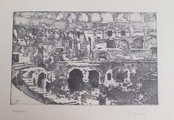Gyémánt László rézkarca : Colosseum