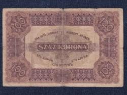 Nagyméretű Korona Államjegyek 100 Korona bankjegy 1920 / id 11014/