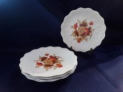2850- Nagyon szép virágos, magában mintás desszertes tányér