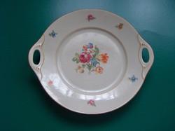 Eichwaldi füles tányér, kínáló tányér, rózsás