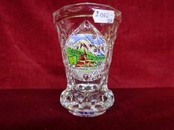 Ólomkristály váza német képes kitzbühel mag.12 cm átm 9 cm hibátlan ajándék tárgy