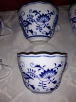 Antik zsolnay hagymamintás teás csészék
