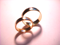14 k-os jegygyűrűk női+ férfi