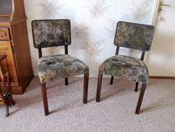 2 db. Art Deco kárpitos szék egyben (felújított)