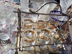 6db-os pohár készlet alpakka tartóban
