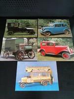 5db régi autós képeslap óbuda