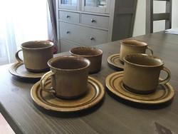 Régi Svéd HÖGANÄS kerámia kávés készlet