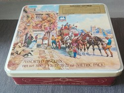 Nagy, angol kekszes doboz