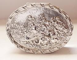 'Debrecen SZ.királyi város díja 1928.IV.1'.Díszes német ezüst doboz!