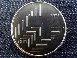 Svájc 700 éves az Államszövetség .835 ezüst 20 Frank 1991 B / id 10647/