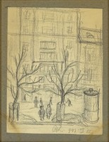 0Y189 Magyar festő XX. század : Nagymező utca 1947