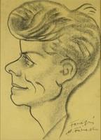 0Y190 Magyar festő XX. század : Karikatúra portré