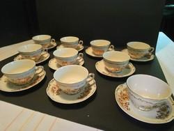Zsolnay retró luxus 10 személyes teás készlet