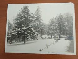 Nagyméretű, régi, antik fotó, kép (Budapest, Városmajor télen) eladó
