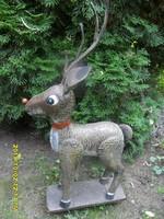 Nagy kerti karácsonyi fém szarvas