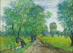 0Y182 XX. századi festő : Csatornaparti út