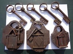18. Századi ritka lakat és kulcs különlegesség gyűjtemény