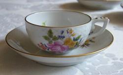 Herendi rózsás mokkás csésze alátét tányérral!