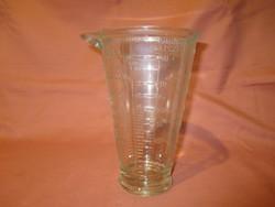 Vastag üveg mérőpohár, mérőedény