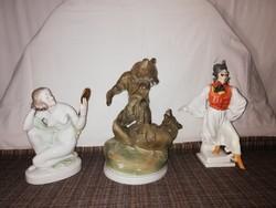 1,-Ft Sérült herendi és Zsolnay nagyméretű porcelánok egyben!