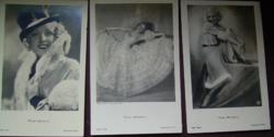3 db Bársony Rózsi fotólap Rosy Barsony
