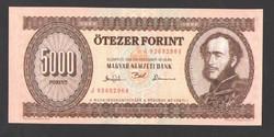 "5000 forint 1993.  ""J"".  UNC!!  RITKA!!"