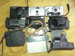 6 darab régebbi fényképezőgép