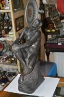Nagy méretű régi terrakotta figura