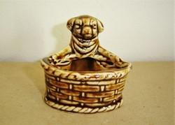 Antik porcelán malacos asztali sótartó