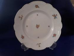 2866- Rózsás, gyöngyös zsolnay tányér