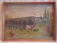 Hortobágyi Kilenclyukú-híd festmény