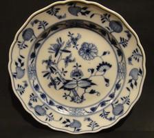 """Antik 'kardos"""" MEISSEN - i hagymamintás tányér,hibátlan ,24,7 cm"""