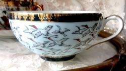 Japán tojáshéj porcelán gésafejes teás csésze