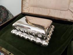 Art deco ezüst doboz
