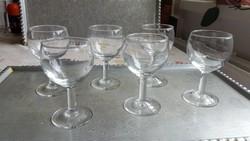 Gyönyörű talpas pohár, likőrös pohár 6 db eladó!