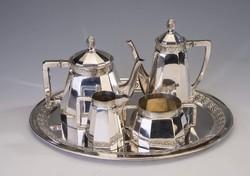 Ezüst teás-/ kávéskészlet