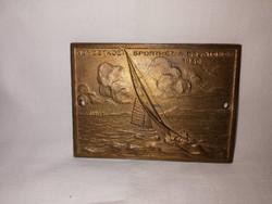 Antik 1936 Balatoni Vitorlás bronz plakett