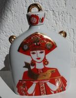 Lomonoszov butélia - pálinkás butykos - ritka, gyűjtői darab