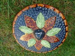 Álomszép nagyméretű ÚJ kerámia pite sütő edény igazi kézműves alkotás skandináv