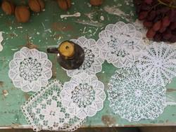 Csipketerítők régi kézimunka horgolt / Antique handmade laces in all shapes
