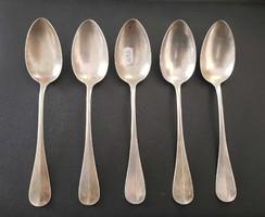 5 darab jelzett monarchiás ezüst evő kanál együtt 407,2 gr.