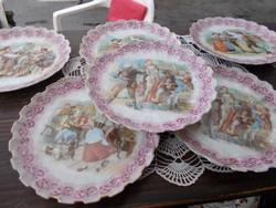 Szépséges bidmermayer süteményes tányérok