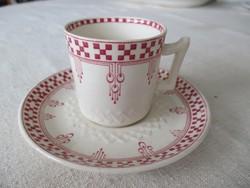 Antik angol fajansz, Adderleys (WAA&Co) kávéscsésze alátéttel