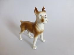 Antik német porcelán boxer kutya